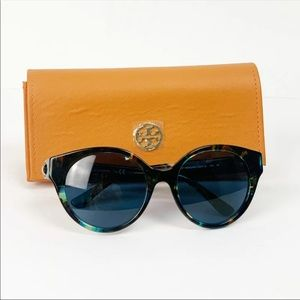 Tory Burch Sunglasses TY7087 Blue Brown Tortoise
